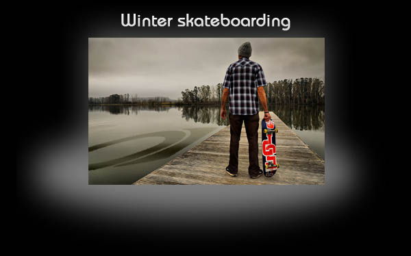 Winter skateboarding